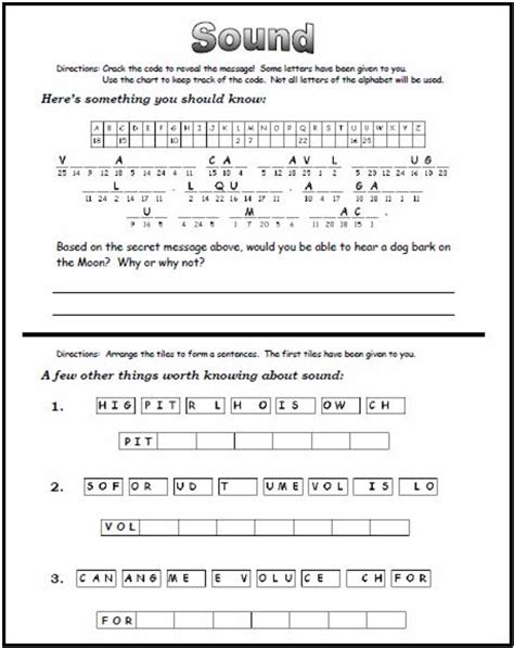 worksheet on light pdf kidz activities