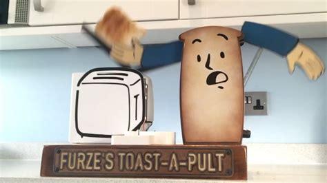Trebuchet Toaster - i made a catapult toaster catch