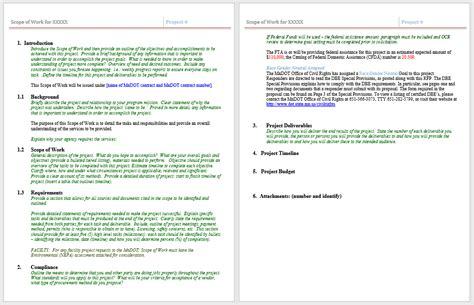 statement  work templates   sample templates