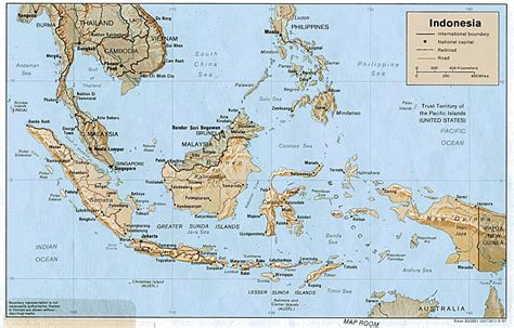 travel maps  indonesiaindonesia shaded relief