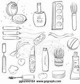 Makeup Coloring Pages Sets Barbie Spa Face Getcoloringpages Cosmetic sketch template
