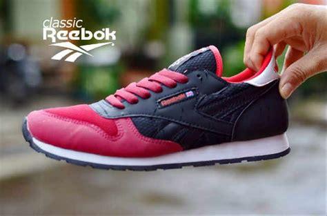 Sepatu Santai Reebok jual sepatu murah pria reebok hitam merah sport