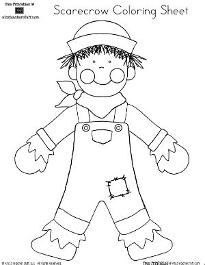 scarecrow coloring sheet pre k kindergarten homeschool 202 | 5c57be529bc27699f119230de9f62cf6
