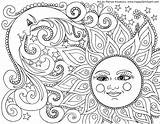 Coloring Print Summer Pages Adults sketch template