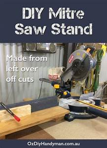 DIY mitre saw stand made from left over off cut pieces of