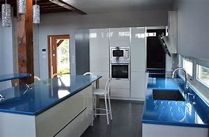 Plan Travail Pierre : plan de travail cuisine bleu bx52 jornalagora ~ Nature-et-papiers.com Idées de Décoration