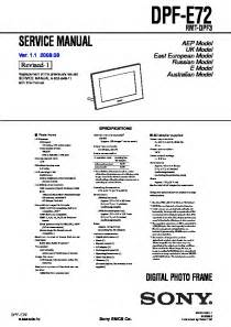 Sony Other Service Manuals Service Manuals And Schematics  U2014 Repair Information For Electronics