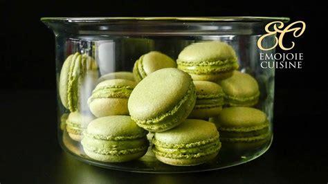 matcha green tea macarons foodporn youtube