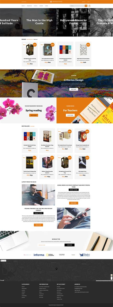 opencart bookstore template opencart bookstore template images professional report template word