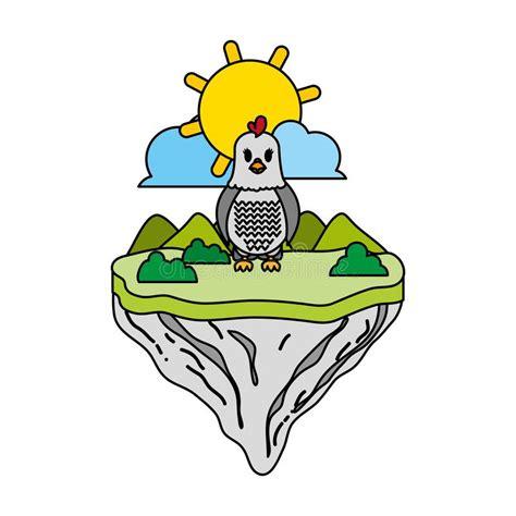 Color de la gallina ilustración del vector Ilustración de