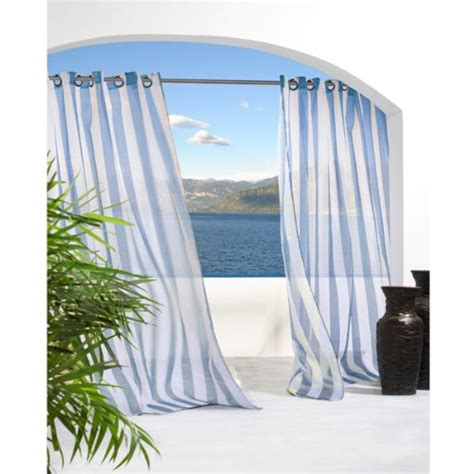 Cheap Patio Curtains Outdoor by Cheap Outdoor Decor Escape Stripe Grommet Top Curtain