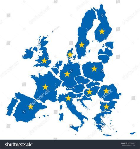 map european union concept disintegration eu stock vector