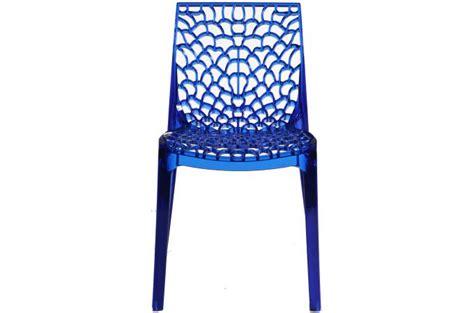 chaise gruyer chaise design transparente bleue gruyer transparent