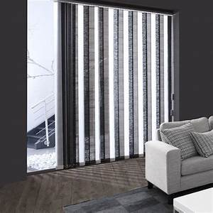 Store à Lamelles Verticales : lamelles verticales tamisant effet bambou noir ~ Premium-room.com Idées de Décoration