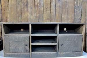 Meuble Bois Brut : meuble t l en bois brut 60x25x16 ~ Teatrodelosmanantiales.com Idées de Décoration