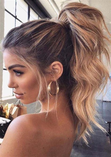 stunning high ponytail hairstyles trends  modern