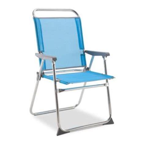 Carrefour  Chaise Dossier Haut  Aluminium  Bleu Marine