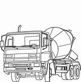 Cement Mixer Coloring Construction Truck Pages Concrete Sketch Button Template Grab Using Welcome Templates sketch template
