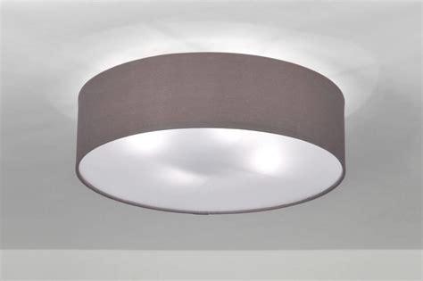 deckenleuchte rund stoff deckenleuchte 71389 modern grau stoff rund