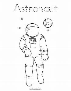 A is for Austronaut Coloring Page | outer space ...