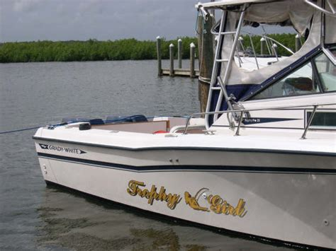 Custom Boat Lettering Decals