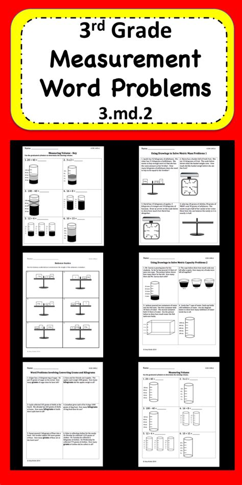 measurement word problems educational finds and teaching