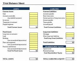 trial balance sheet template ms office guru With trial balance template free download