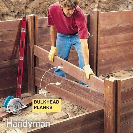 images  wood retaining walls  pinterest