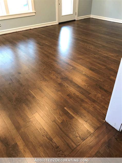 how to place hardwood floors my newly refinished red oak hardwood floors
