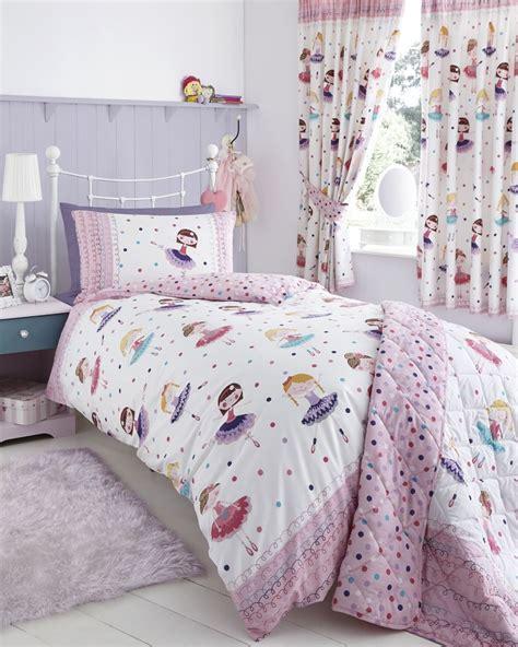 Ballerina Double Duvet Cover Set  Kids Bed Linen The