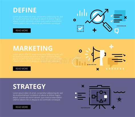 define marketing strategy web banners set stock