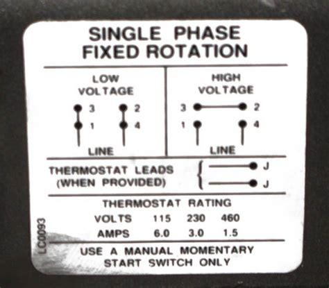 wiring diagram  baldor hp single phase motor