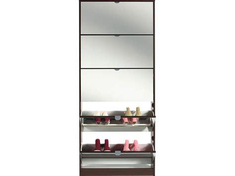 meuble chaussure 5 abattants miroir