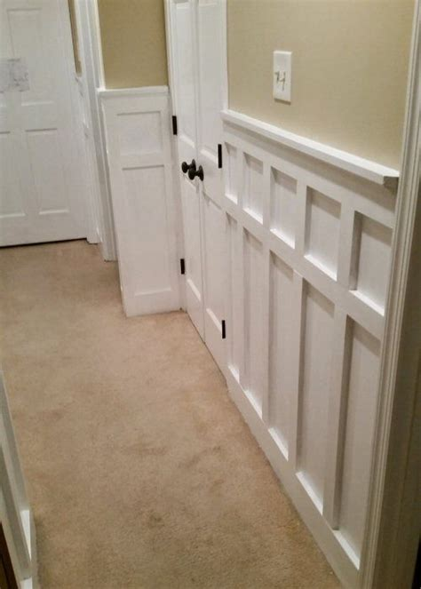 install board  batten wainscoting white painted