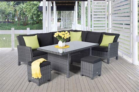 rattanmöbel in berlin gartenm 246 bel lounge dining paddington rattan esstisch mix grau