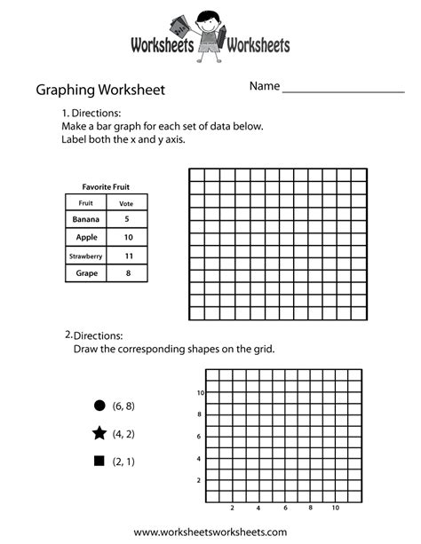 graphing practice worksheet  printable educational