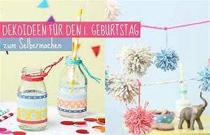 Geburtstag Deko Ideen : deko zum 1 geburtstag selbermachen tambini ~ Frokenaadalensverden.com Haus und Dekorationen