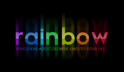 bright rainbow text effect photoshop star