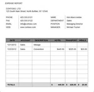 Travel Expense Sheet Template 8 Expense Report Template Free Word Excel Pdf Documents Free Premium Templates