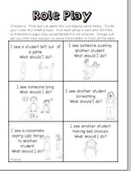 behavior mgmt happy class role play scenarios behavior
