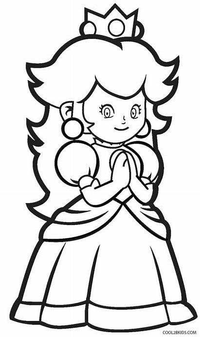 Coloring Peach Princess Pages Printable Teenagers Daisy