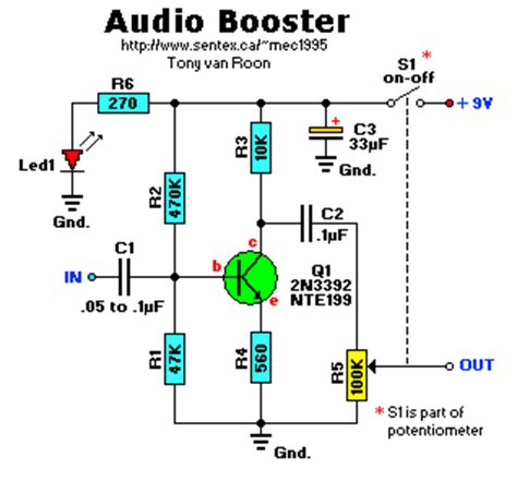Audio Booster With One Transistor