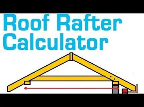 roof rafter calculator  estimate  length board