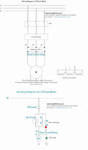 A 3 Phase Motor Connection Wiring Diagram And Auxiliary
