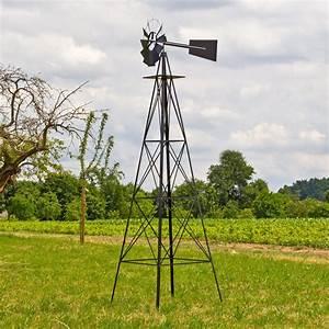 Obstkisten Deko Garten : deko garten windrad h 305 cm schwarz nostalgie westernwindrad ~ Michelbontemps.com Haus und Dekorationen