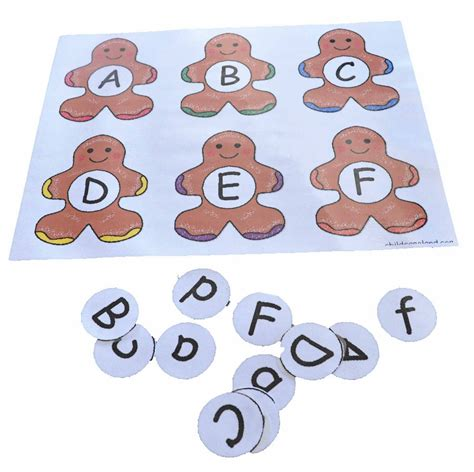 children s learning activities gingerbread alphabet 199 | gingerbread letter