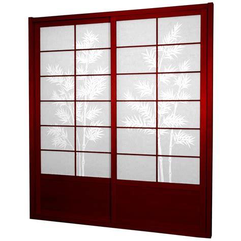 furniture bamboo tree shoji sliding door kit