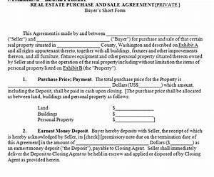 house for sale contract With house sales contract template