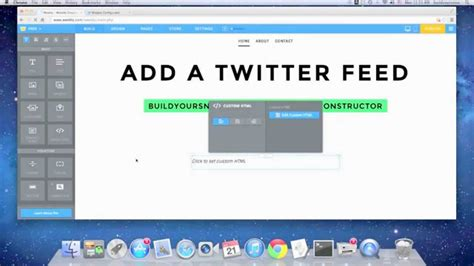 add twitter feed  weebly youtube