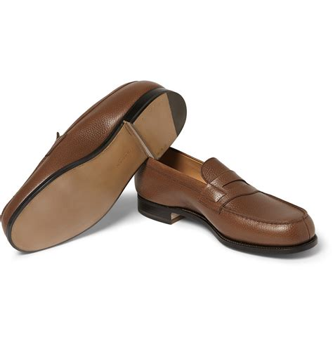 womens leather loafers j m weston 180 the mocassin leather loafers in brown for